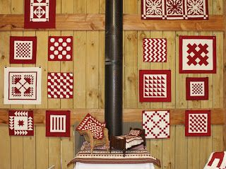 Lovin' the red & white minis - 'Quilts in the Barn' October 2012.