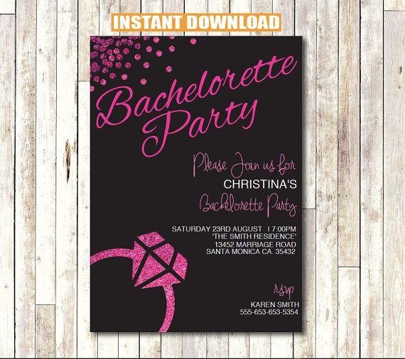 Bachelorette Party Invitation INSTANT DOWNLOAD Printable