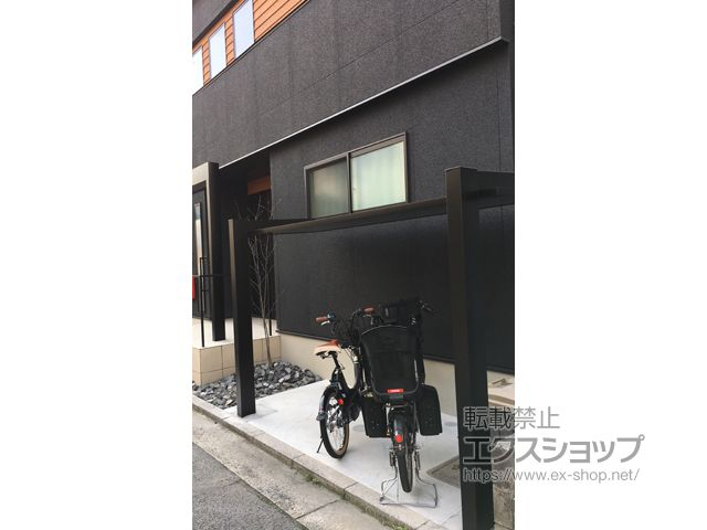 広島県広島市のlixil リクシル サイクルポート 駐輪場施工例 カーポートscミニ 積雪 2020 カーポート リクシル 自転車 屋根