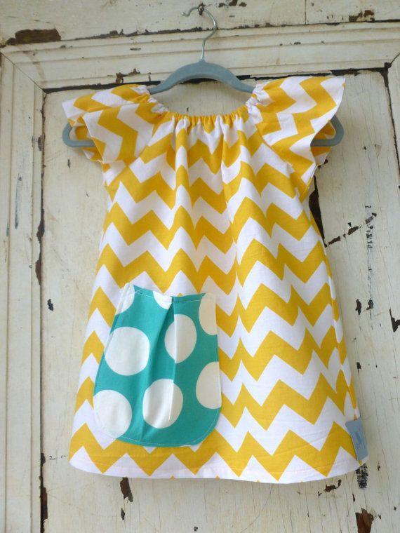 Girls Chevron Dress - Spring Dress - Childrens Clothing