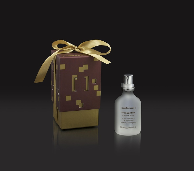 Luxury Italian Spa Skin Care House, [ comfort zone ], have created a Tranquillity Linen Perfume Spray which smells divine! Relax after spraying this spa scent onto your bedclothes, towels or curtains, leaving your house smelling festive and fresh! www.comfortzoneskincare.com | 01827 280 080 | @Comfort Zone