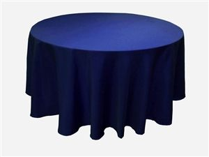 This website has lots of great, cheap tablecloths. Definitely more cost-effective than renting them.