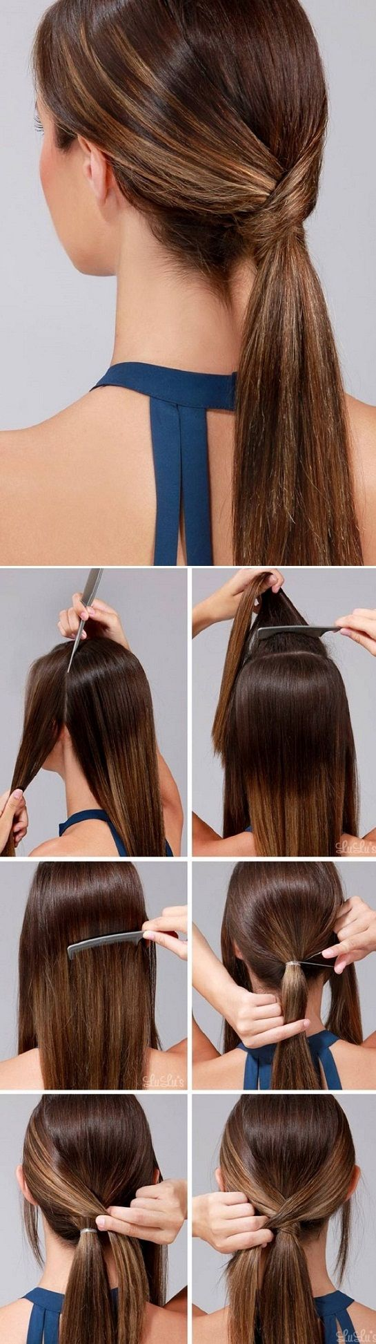 how to make hair look thinner in a ponytail