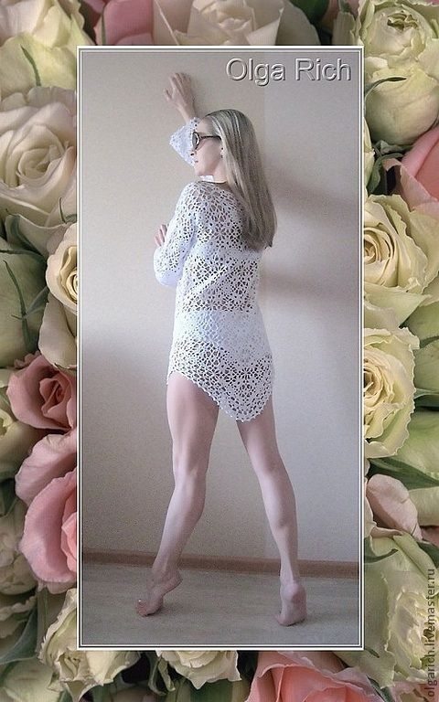 "Buy Tunic summer ""Summer's day"" - white, tunic, tunic knitted, beach tunic"