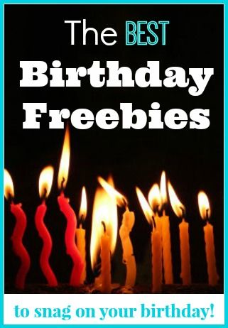 The biggest roundup of the Best birthday freebies. These are all the places you need to sign up for in order to get free stuff on your birthday!