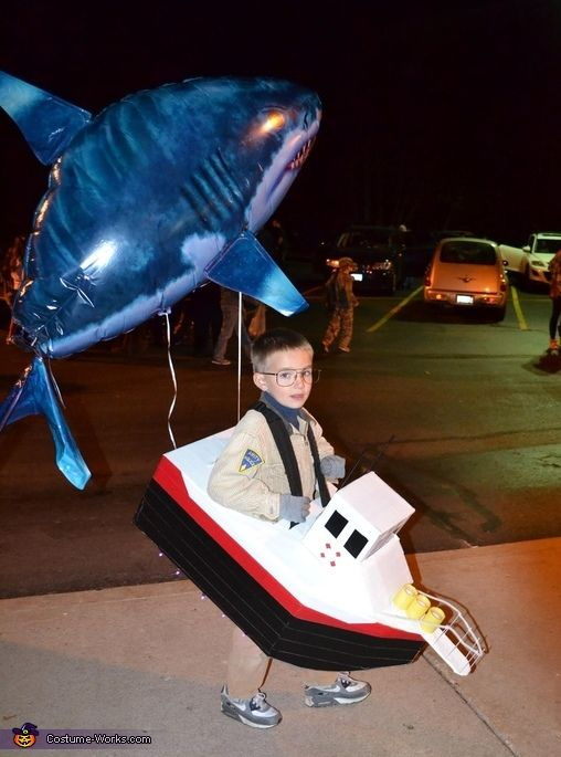 Chief Brody and Jaws Halloween Costume Idea