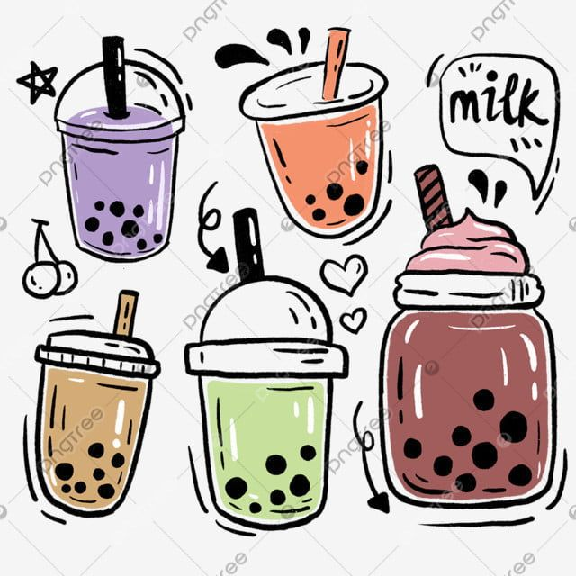 25+ Cute Cup And Straw Clipart