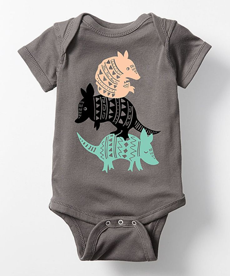 Take a look at this Charcoal Stacked Armadillos Bodysuit - Infant today!