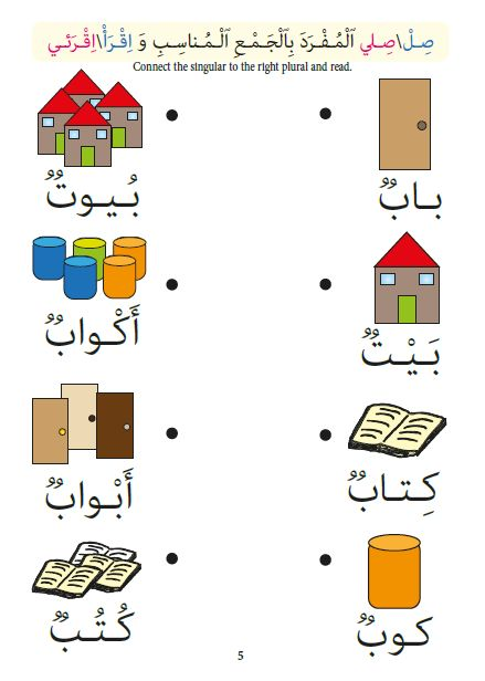 $4 #Arabic Words writing and reading,Singular-Plural matching, Cut & Paste, Crosswords & Coloring are included in these House #Worksheets! A meaningful topic for #kids!