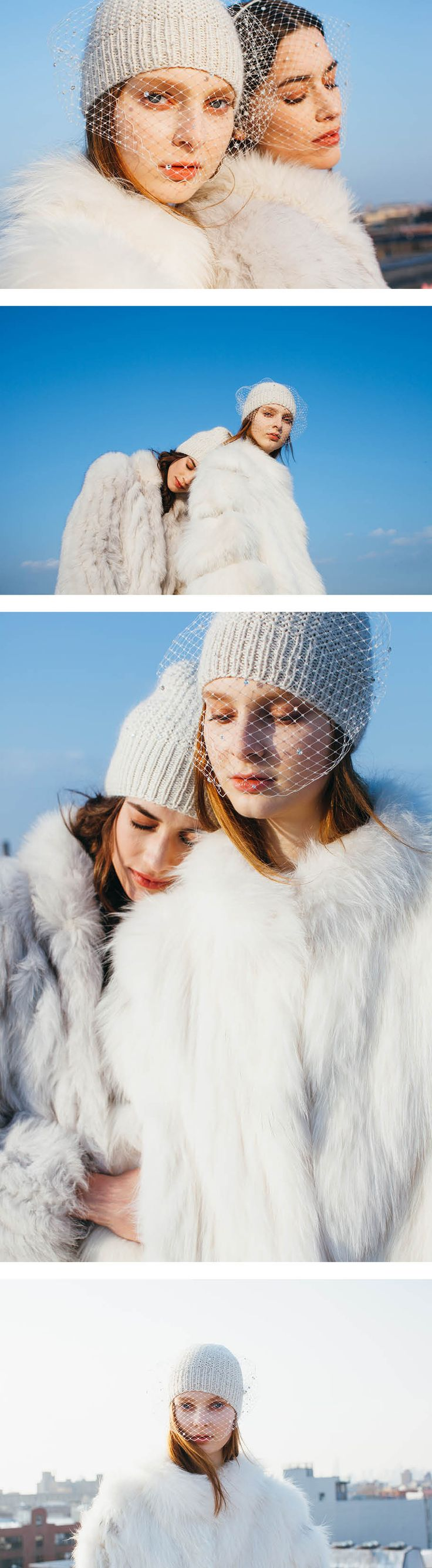 Swarovski crystal embellished knit hats by Jennifer Behr are perfect for cold weather dressing. Pair with your favorite camel winter coat. Shop the look at www.jenniferbehr.com