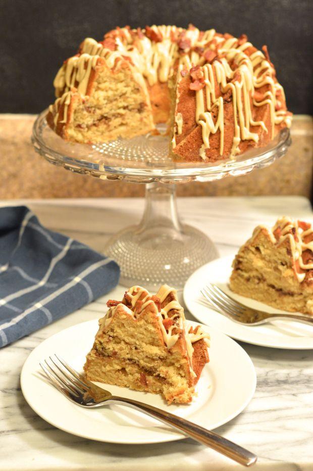 Maple Bacon Bundt Cake with Bacon Pecan Streusel Swirl | Brooklyn Homemaker