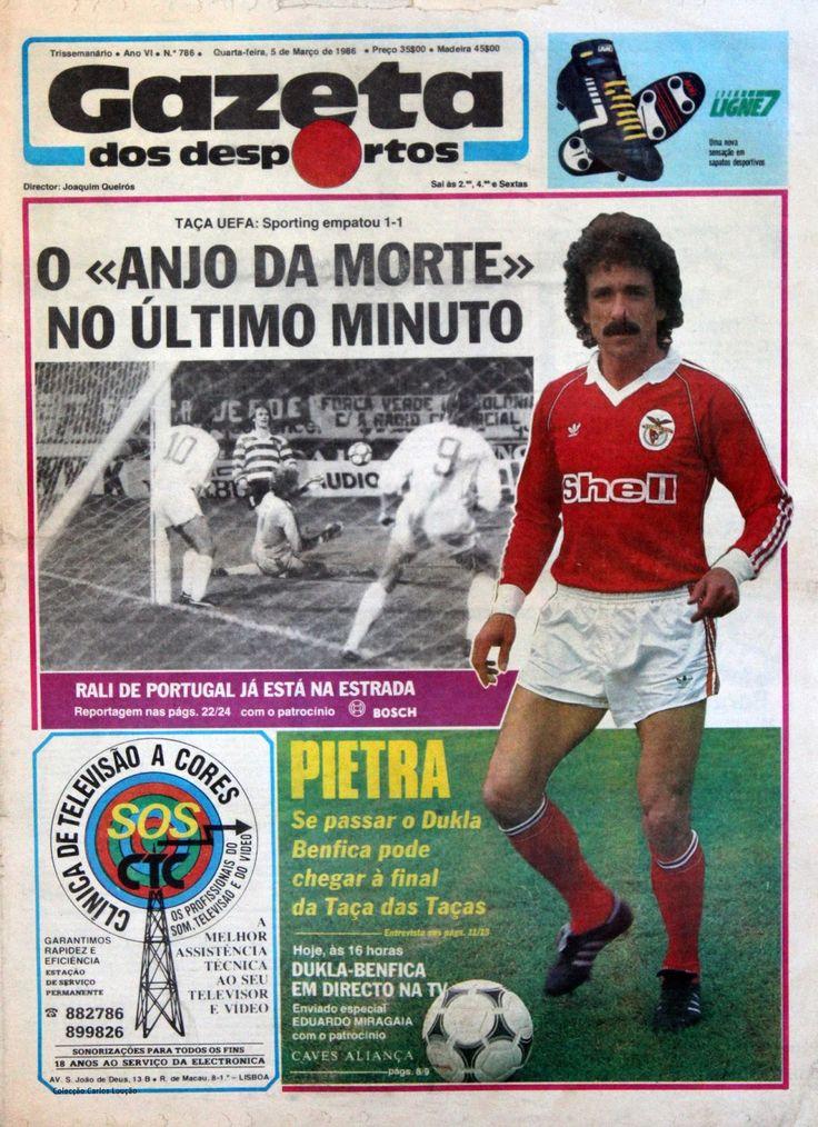 Capas de jornais vintage Gazeta dos Desportos, 5 de Março
