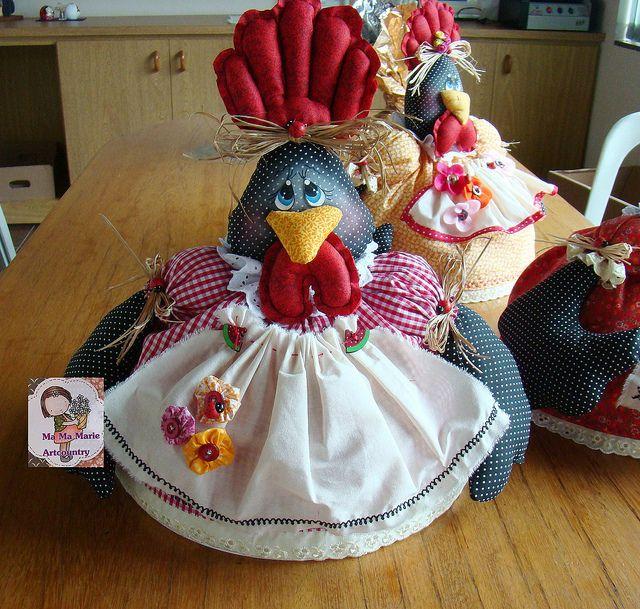 Cobre bolo galinha by Ma Ma Marie Artcountry, via Flickr