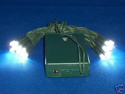 LED CHRISTMAS LIGHTS - WITH FLASHER. 20-light string of L.E.D. (light emitting diode). And best of all, it is operated by 3 AA batteries(not included). These strings have a green battery box and green wire. | eBay!