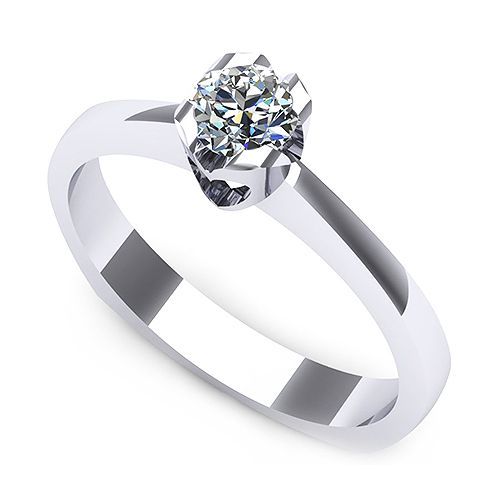 Inel logodna F06ADI * Piatra principala: 1 x diamant, dimensiune: ~3.40mm, greutate: 0.15ct