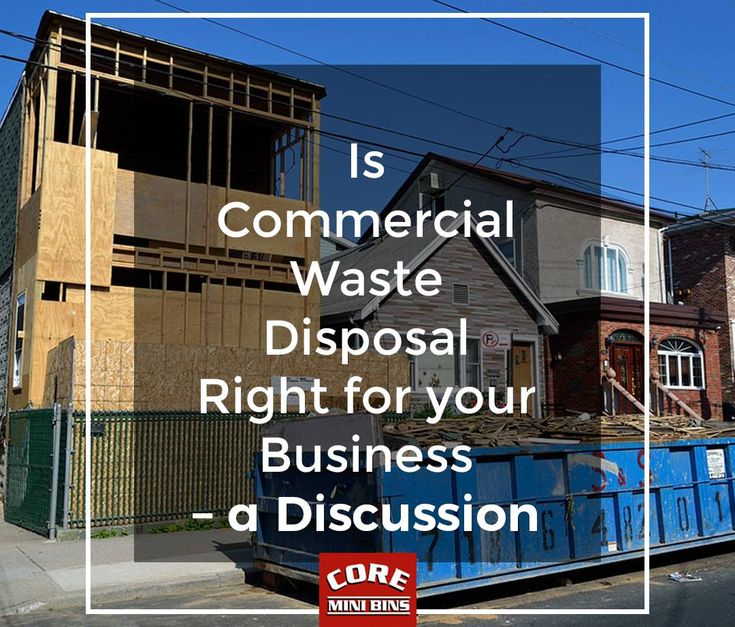 Is Commercial Waste Disposal Right For Your Business? - A Discussion  Every business has their own waste management needs. Whether a company is in health care, construction, retail, higher education, or medical, there are a range of waste management needs related to small business. There comes a point when even the smallest of growing businesses has to ask itself whether a commercial waste disposal arrangement is right.