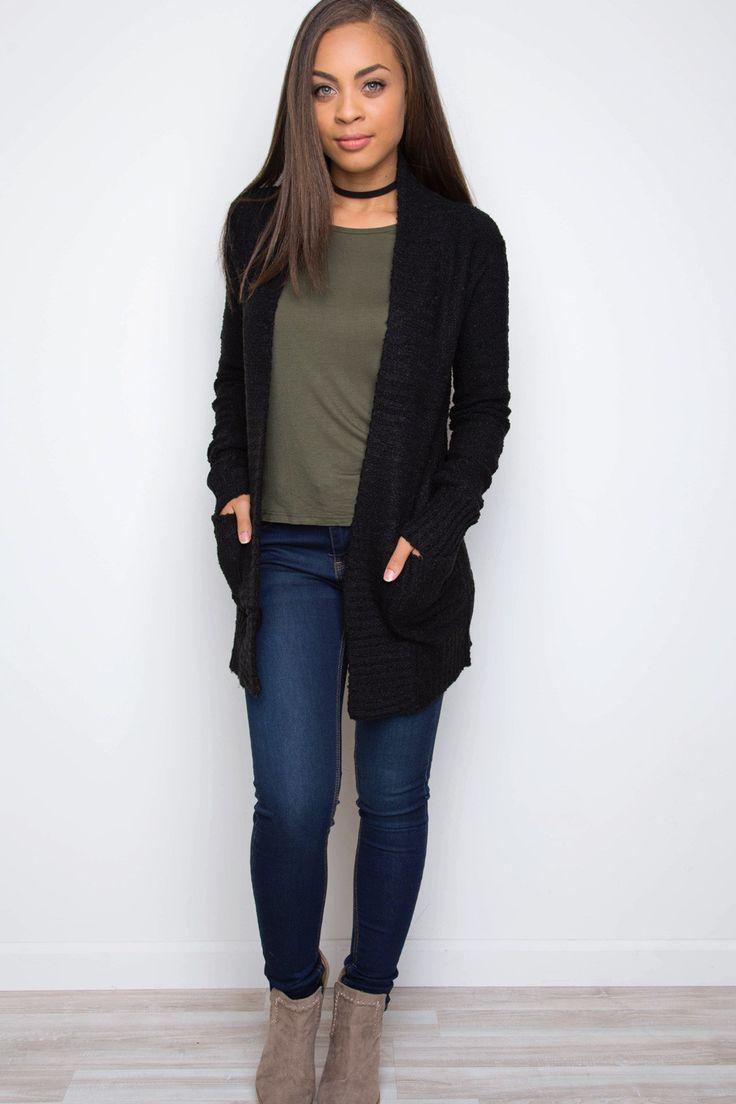 best 25 black cardigan outfit ideas on pinterest black