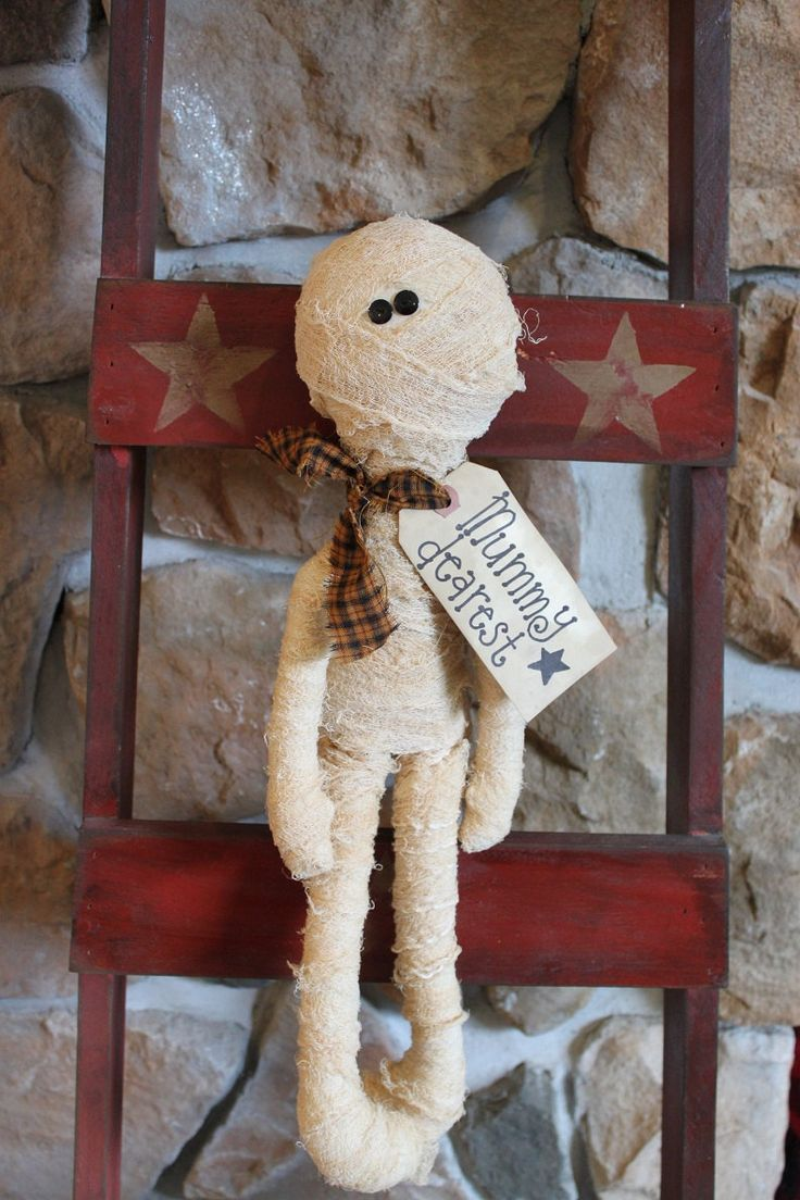 Primitive Folk Art Raggedy Annie Mummy Fall Halloween. $14.00, via Etsy.