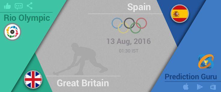 #Rio #2016 #Olympics #hockey Upcoming at 1:30am IST #GreatBritain v #Spain Predit2Win at http://pgur.in/6sgxay