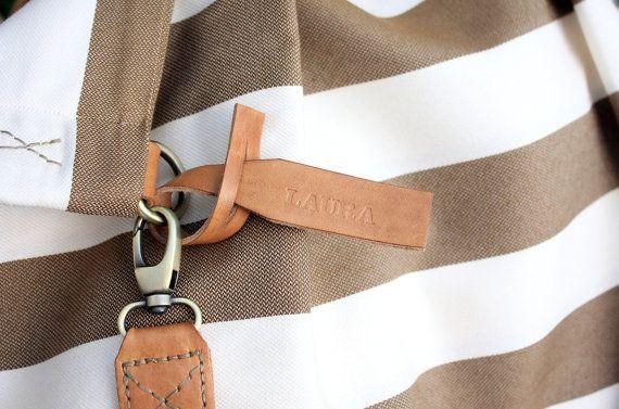 Weekend BAG borsa in tela e cuoio perfetta per di Genuinemyself
