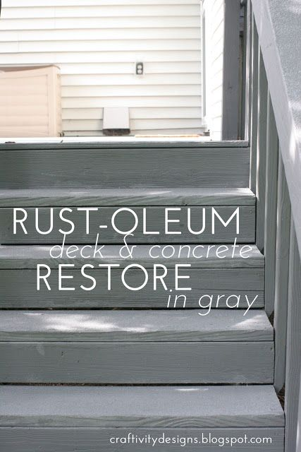 Rustoleum Deck ReStore Review & Reveal - we need to do this to our deck and pool deck!