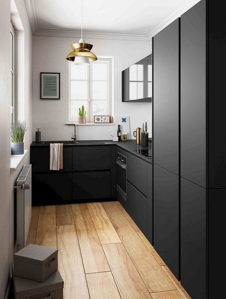 86 Awesome Small Kitchen Remodel Ideas Small Kitchen Design Apartment Kitchen Remodel Small Modern Black Kitchen