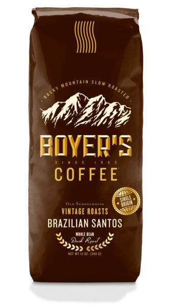 Brazilian Santos is a fine Santos Brazilian coffee. Brazilian Santos Coffee is smooth in flavor and medium in body. Single origin coffee, not a blend. From our exclusive OLD SCHOOLHOUSE VINTAGE ROASTS collection.