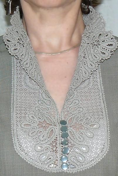 Advanced Embroidery Designs - FSL Battenberg Victorian Lace Collar