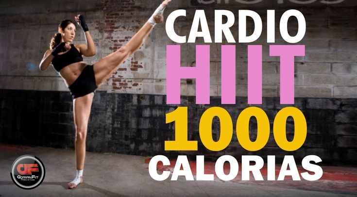 Cardio HIIT - QUEMA 1000 CALORIAS!!! Albeit it's in Spanish, it still looks like an awesome workout!