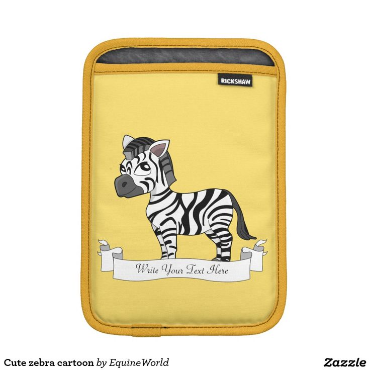 Cute zebra cartoon sleeve for iPad mini