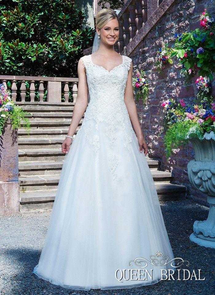 Vestido noivas длинные поезд свадебное платье appplique свадебное платье линия кружева и тюль королева свадебная R95