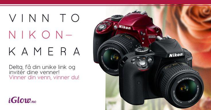 UNIK INVITASJON - Deltar du i konkurransen med denne linken øker du din egen og din venns vinnersjanser i denne  morsomme iGlow.no-konkurransen! Vinnerne får to stk lekre Nikon D3300 analoge kamera.