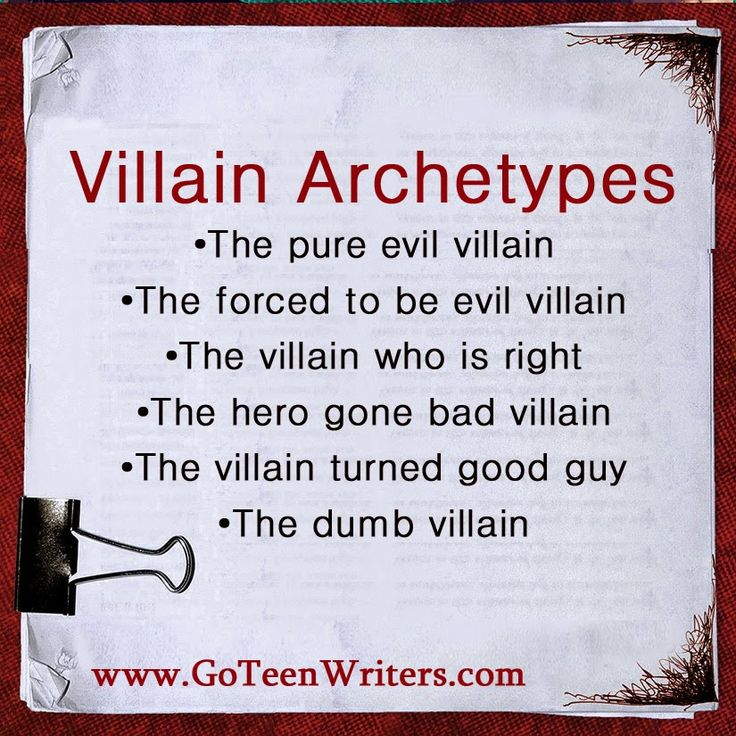 Writing Great Villains