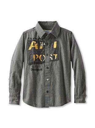 83% OFF Desigual Boy's Button Down Shirt (Black)