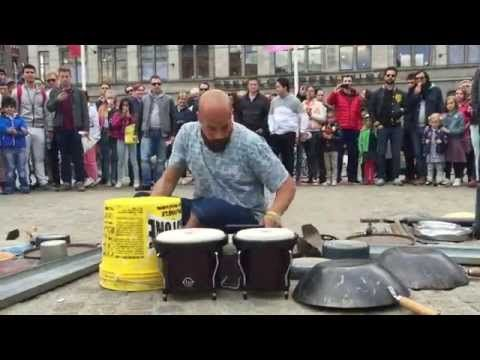 Best Drums Images On Pinterest Music Drums And Musical - Street drummer uses nothing more than scrap metal to creating amazing techno beats