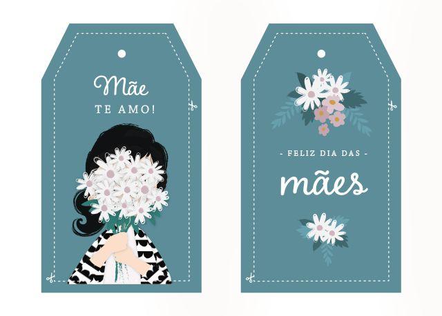 Cambaleando: Printable: tags de Dia das Mães