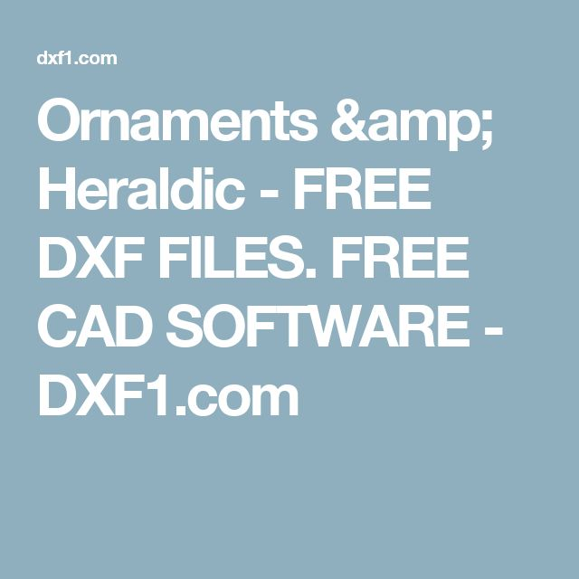 Ornaments & Heraldic - FREE DXF FILES. FREE CAD SOFTWARE - DXF1.com