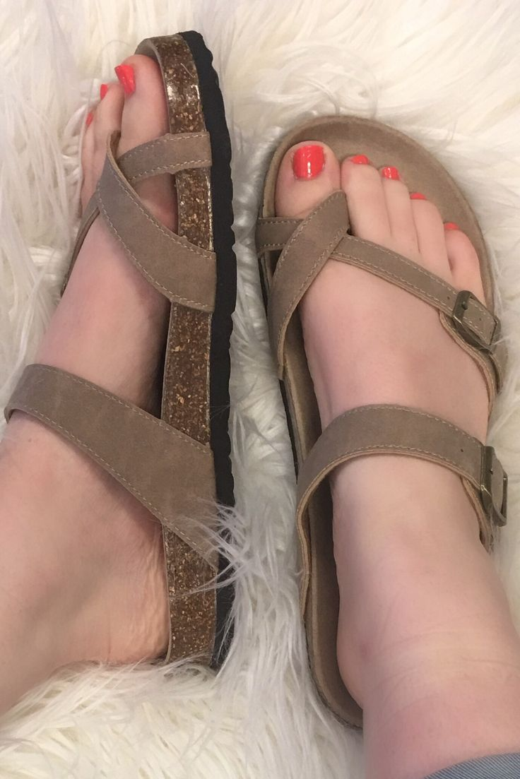 """Birkenstock Inspired """"Mayari"""" Sandal - Taupe from Chocolate Shoe Boutique"""