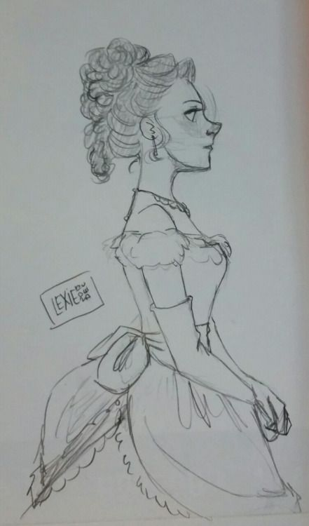 doodling some victorian molly today since writingwife83 was talking about her victorian fanfic