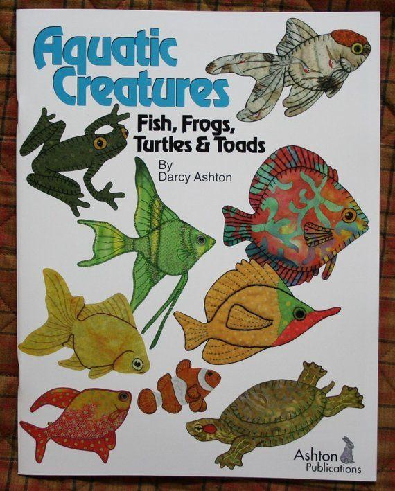 Vis Quilt boek--aquatische wezens--stoffen boek quilten