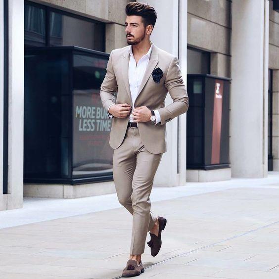 Encontrar Más Trajes Información acerca de 2018 Pantalones Hombre traje  para boda de negocios slim fit 9ab25e7d8e1