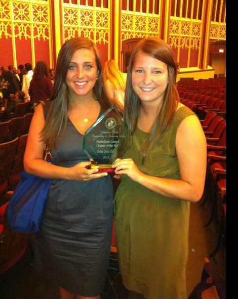 Way to go Beta Nu! Our Virginia Tech chapter received SIX awards including: Chapter of the Year (for the 2nd year in a row!), Outstanding Advisor Award (Allison Mitchell), Outstanding Community Relations, Legacy Award (Allison Mitchell), House Management of the Year, and Outstanding Alumni of the Year (Anna Klele). Wow! Congrats sisters!