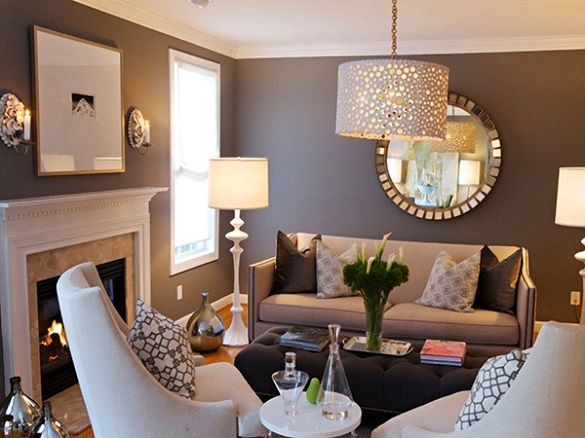 Beautiful Decoration:Decorating Small Living Room Layout Interior Ideas With Tv Home  Entertainment Rectangle Sectional Square Sofas Furniture Corner Fireplace  Design ...
