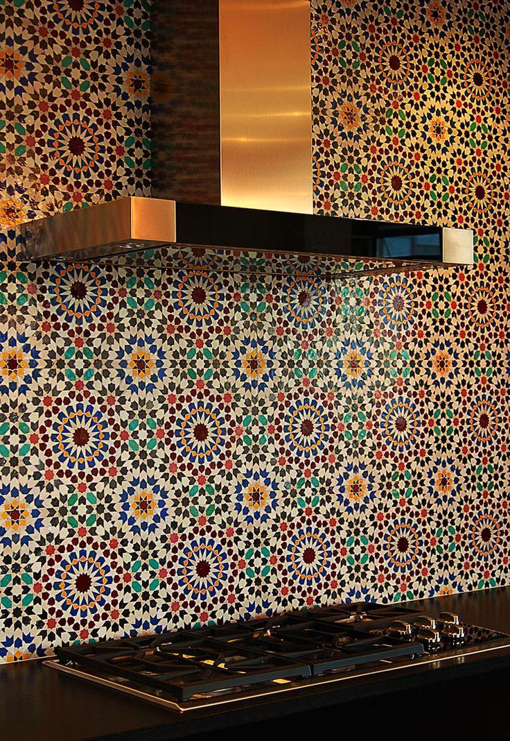 Moroccan bathroom decor - Moroccan Tile Backsplash Kitchen Inspirations Pinterest