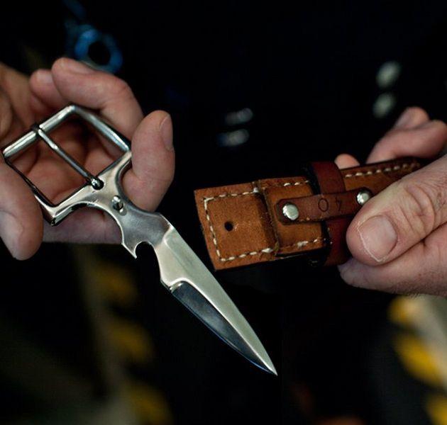 Leather Belt Knife Buckle