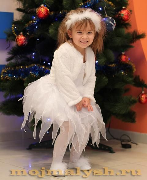 Корона для новогоднего костюма девочки снежинка
