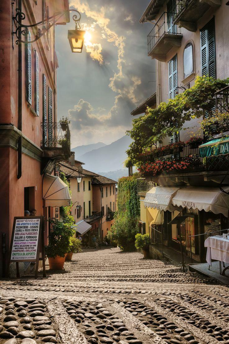Walking down a street like this would fulfill so many fantasies. Bellagio - Lake Como - Italy