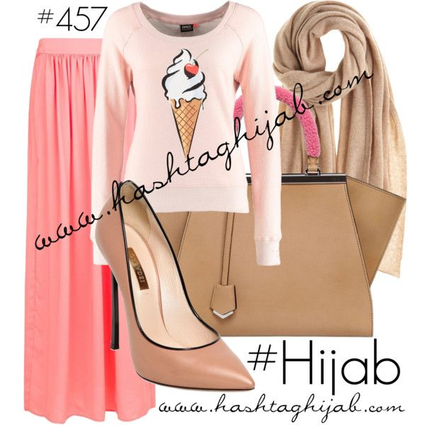 Hashtag Hijab Outfit #457 by hashtaghijab on Polyvore featuring ONLY, MANGO, Casadei, Fendi, Calypso St. Barth and hijab