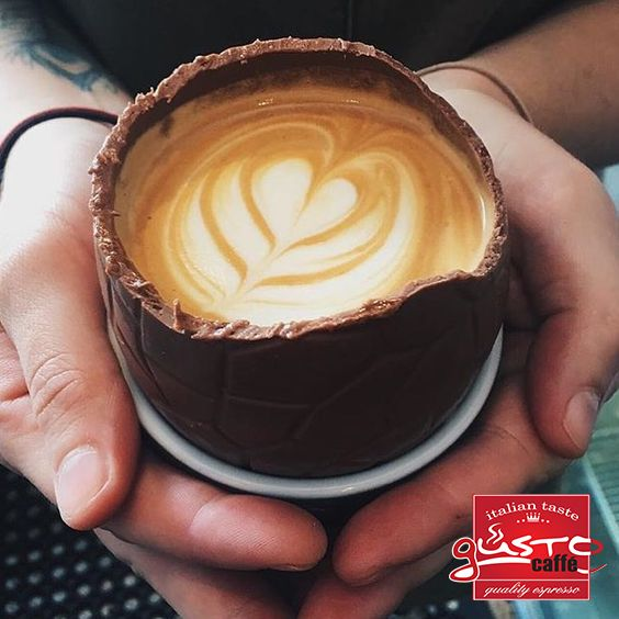 #spring #chocolate #egg #and #Gusto #cappuchino #taste #it #now. for more visit us : www.gustoproducts.gr