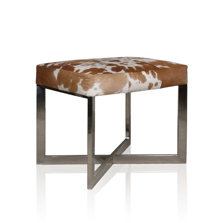 Hair-On 'X' Angus Leather - Embrace a different style of living with this classy and minimalistic HAIR-ON X Angus. Inspired by the impression of the landscapes and revealing a frisky print makes this attractively designed Angus a chic accessory for your contemporary living room. #INVHome #LuxuryHomeDecor #InteriorDesign #RoomDecor #Decorations #Decor #INVHomeLinen #Tableware #Spa #Gifts #Furniture #LuxuryHomes #Furniture #Stools